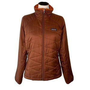 Patagonia Womens Quilted Jacket Copper Insulated M